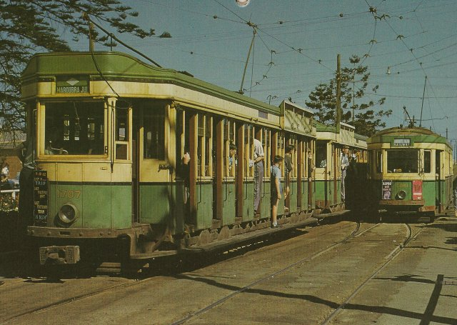 Toastrack Tram at Maroubra Junction