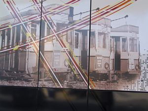 Tram Mural at Newtown Station