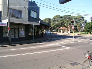 Rounded Corner for Trams at Addison Road, Marrickville, Sydney