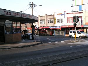 Rounded Corner for Trams at Victoria Road and Marrickville Road, Sydney